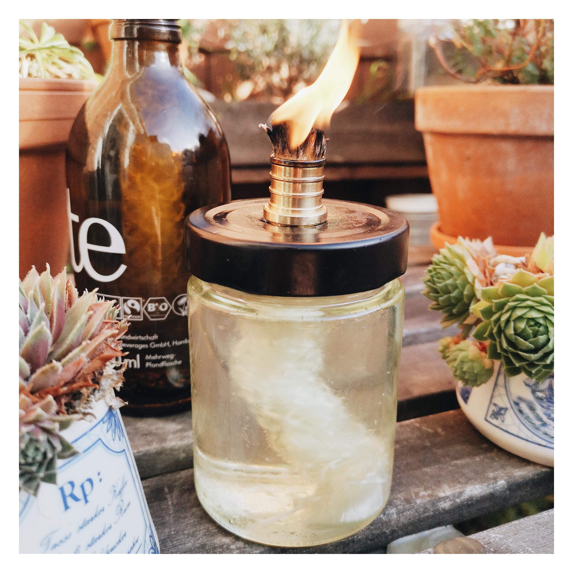 Ölkerze selber machen: Anleitung mit Pflanzenöl: nachhaltige Alternative für Kerzen!