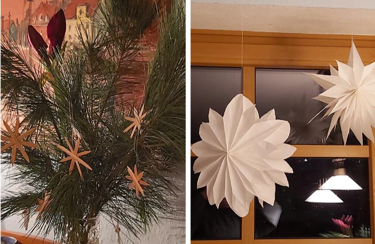 Sterne basteln: 2 einfache Anleitungen für DIY-Weihnachtsdeko