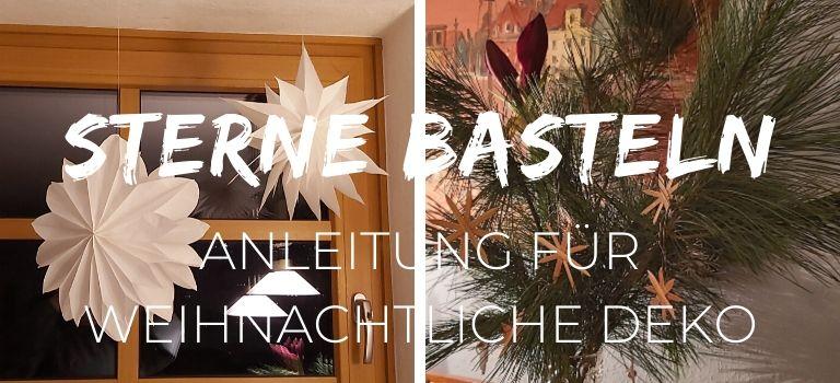 Sterne basteln_Weihnachtliche Anleitung_Stern aus Brottüten_ Stern aus Stroh_Brottütten