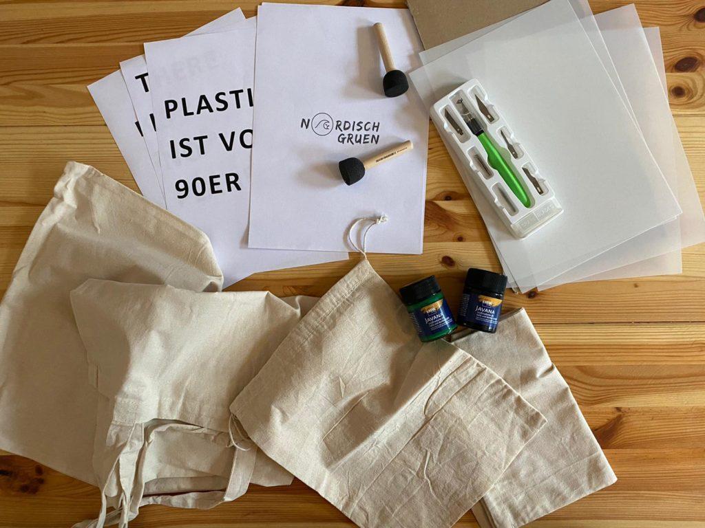 DIY Anleitung: DIY Stofftasche - Jutebeutel einfach selber bedrucken: Alle Materialien