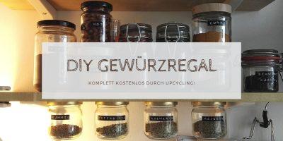 Gewürzregal DIY: Gewürzregal selber bauen: Komplett kostenlos durch Upcycling!