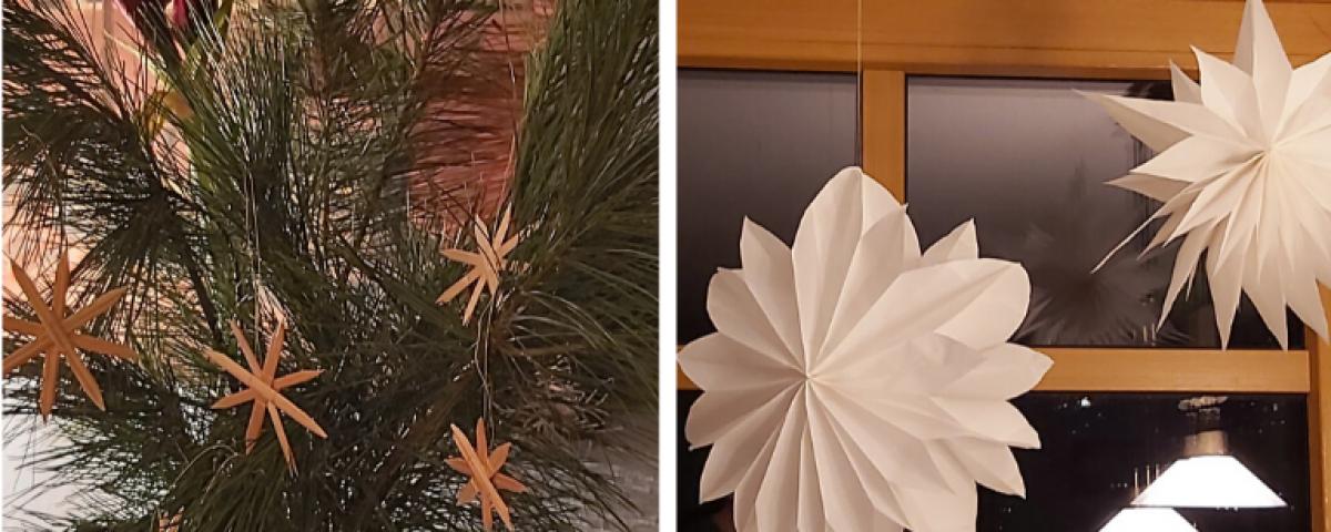 Sterne basteln_Weihnachtliche Anleitung_Stern aus Brottüten_ Stern aus Stroh_Brottüten